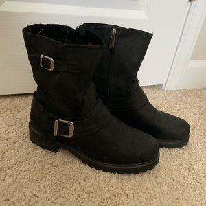 HARLEY DAVIDSON NEW LADIES BLACK BOOTS Size 9.